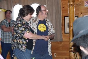 Then Ray got on the dancefloor