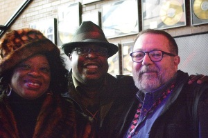Me and Queen Delphine with husband Lee Ellis (photo by Jean Benjamin)